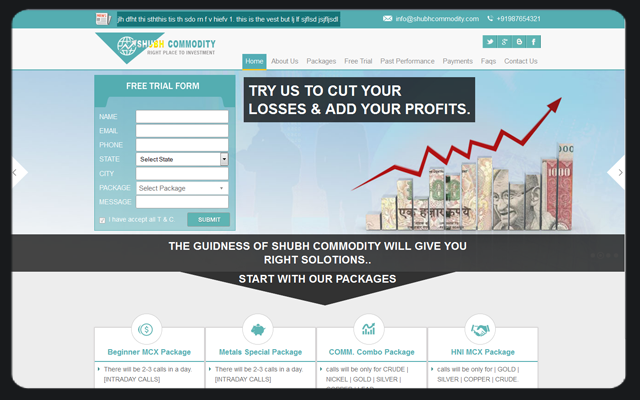 Shubh Commodity Website Design