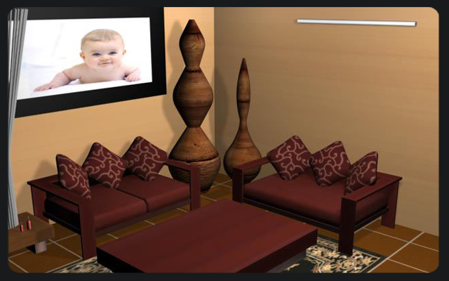 3-D Geust Room Design